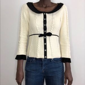 ANTHROPOLOGIE | Guinevere Cream Knit Cardigan